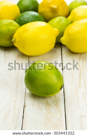 Lemons & Limes - stock photo