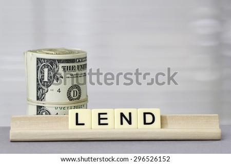 Lend - stock photo