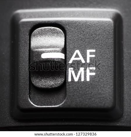 lens autofocus button - stock photo