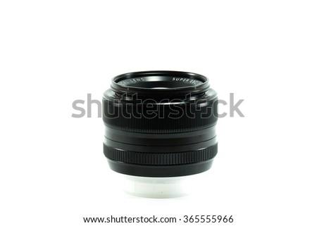 Lens camera isolated. - stock photo
