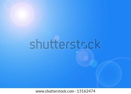 Lens flare - stock photo