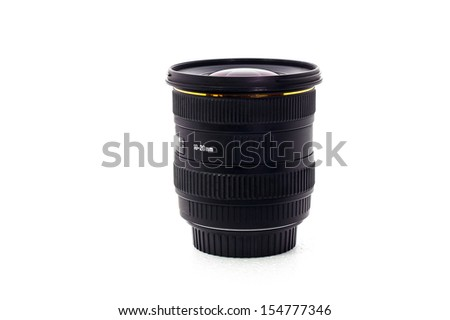 lens isolate white background - stock photo