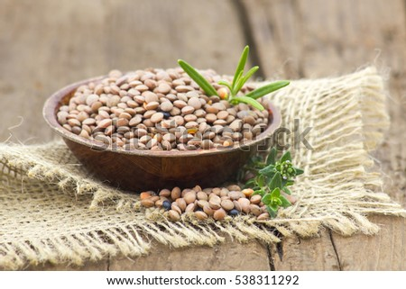 lentils in a bowl