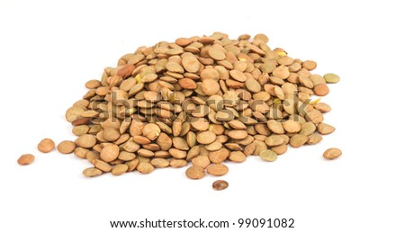 Lentils Isolated on White Background