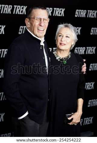 """Leonard Nimoy at the Los Angeles Premiere of """"Star Trek"""" held at the Grauman's Chinese Theatre in Hollywood, California, United States on April 30, 2009.  - stock photo"""