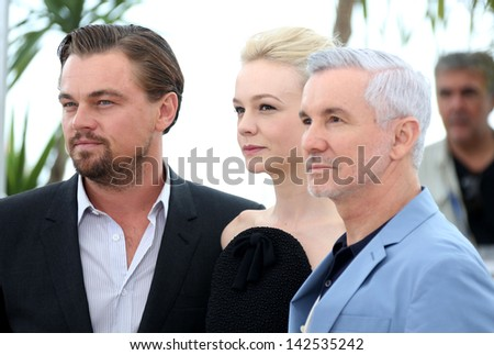 Leonardo DiCaprio and Carey Mulligan  at the 66th Cannes Film Festival - Great Gatsby photocall, Cannes, France.  15/05/2013