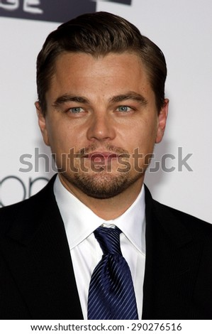 Leonardo DiCaprio at the Los Angeles premiere of 'Revolutionary Road' held at the Mann Village Theater in Westwood on December 15, 2008.