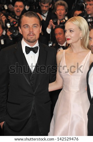 "Leonardo DiCaprio & Carey Mulligan at the premiere of their movie ""The Great Gatsby"" the opening movie of the 66th Festival de Cannes. May 15, 2013  Cannes, France"