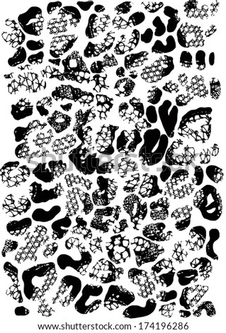 Leopard and lace pattern - stock photo