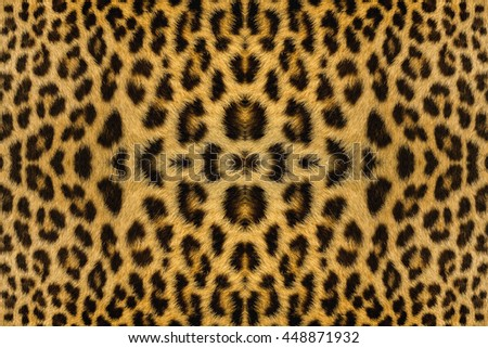 leopard and ocelot skin texture. - stock photo