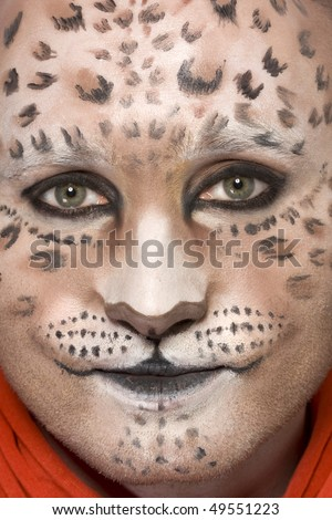 leopard animal makeup carnival