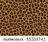 Leopard fur background texture that tiles seamless as a pattern - stock vector