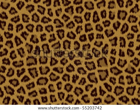 Leopard fur background texture that tiles seamless as a pattern - stock photo
