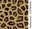 Leopard fur (skin) background or texture - stock photo