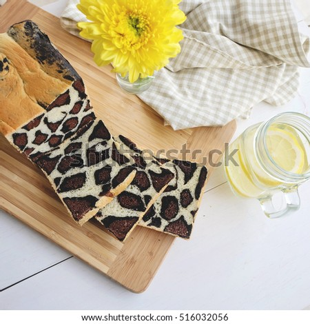 Leopard pattern chocolate bread