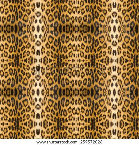 Leopard tiger skin texture background - stock photo