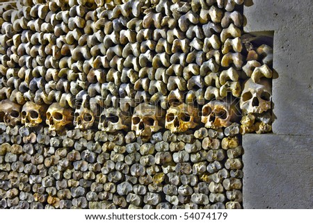 Les Catacombes, Paris - stock photo