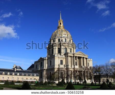 Les Invalides in Paris - stock photo
