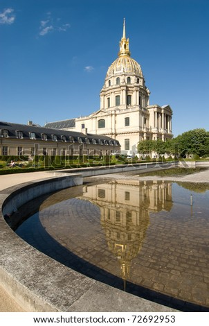 Les Invalides is a complex of museums and tomb in Paris, the military history museum of France, and the tomb of Napoleon Bonaparte.At 1860, Napoleon's remains bury in here.
