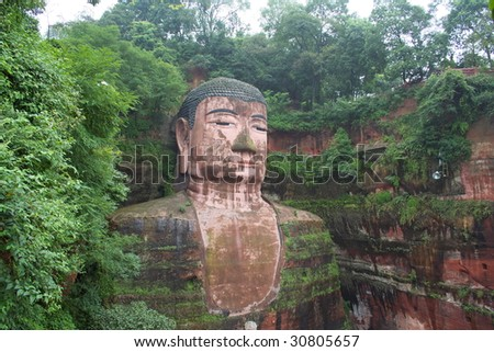 Leshan Grand Buddha is a famous cultural and historical spot in Sichuan Leshan, China, which is the world's biggest stone sitting buddha statue.
