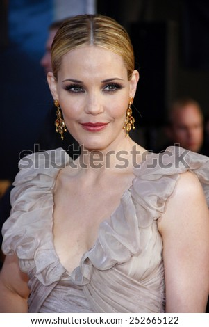 "Leslie Bibb at the World Premiere of ""Iron Man 2"" held at the El Capitan Theater in Hollywood, California, United States on April 26, 2010."
