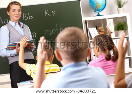 lesson with the teacher at school