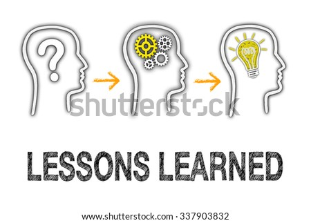 Lessons learned - Education and Evaluation Concept - stock photo