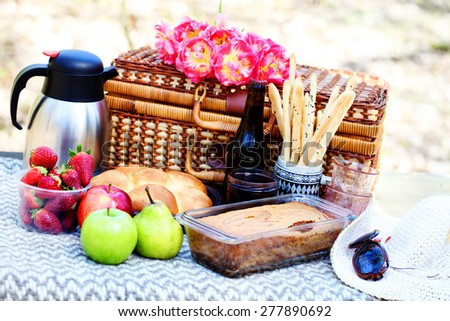 let's go for a picnic - food and drink - stock photo