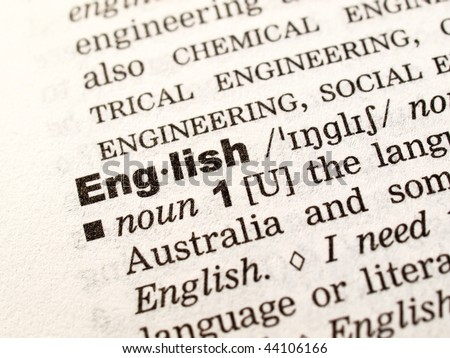 Let's learn English! - stock photo