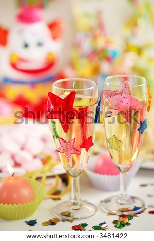 Let's party - Party accessories for New Year Eve, birthday party or carnival