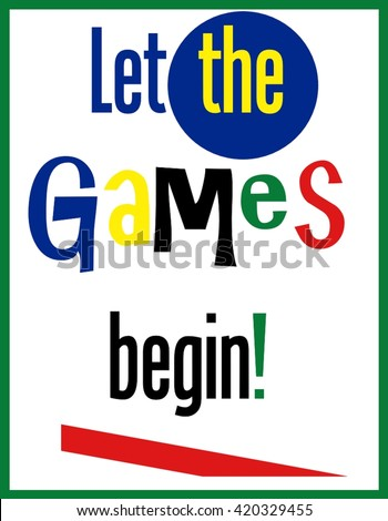 let games begin word clip art stock illustration 420329455 rh shutterstock com games clipart png video games clipart