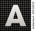 Letter A from metal net alphabet. There is a clipping path - stock photo