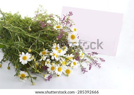Letter and flowers - stock photo