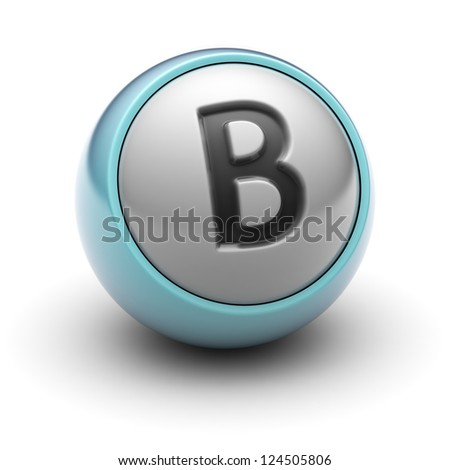 letter B  Full collection of icons like that is in my portfolio - stock photo