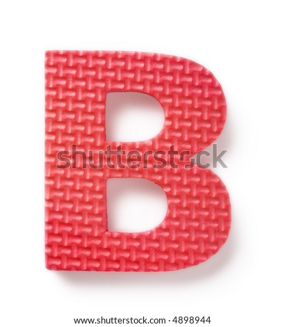 Letter B isolated on the white background - stock photo