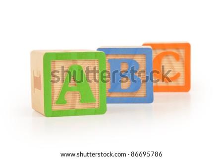 Letter Blocks ABC - stock photo