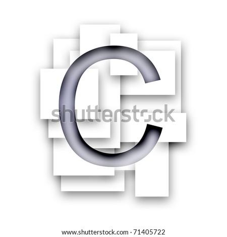 Letter - C - stock photo