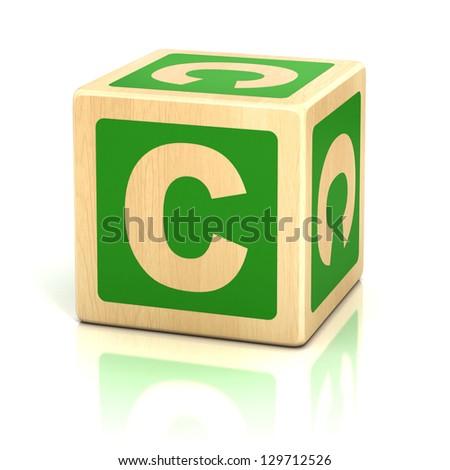 letter c alphabet cubes font - stock photo