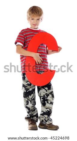 "Letter ""C"" boy - stock photo"