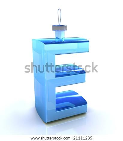 "letter ""E"" like christmas toy - stock photo"