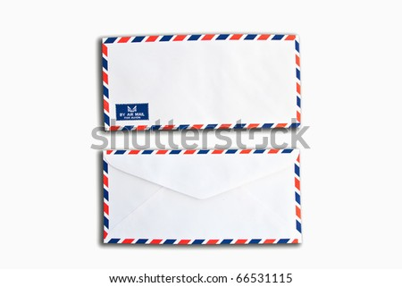 letter envelope isolate