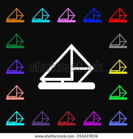 letter, envelope, mail icon sign. Lots of colorful symbols for your design. illustration - stock photo