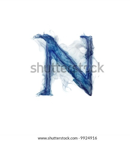 Letter  . Ink in water. - stock photo