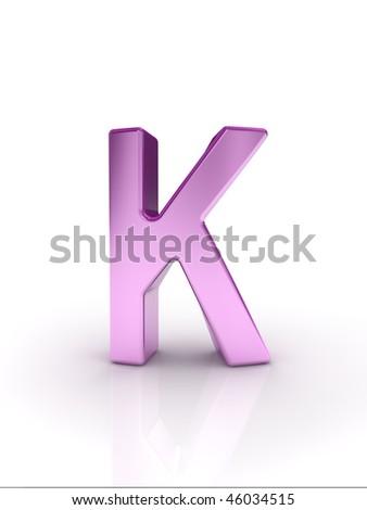 Letter K - stock photo