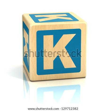 letter k alphabet cubes font - stock photo