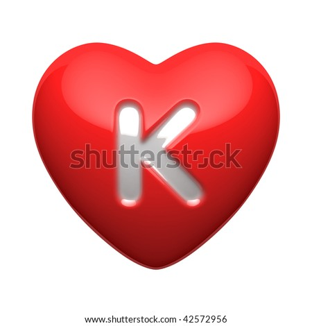Love Heart Images Listed by Alphabet K