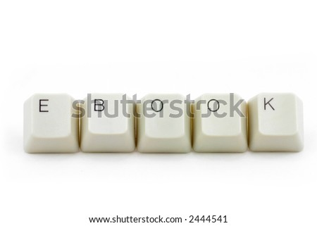 letter keys close up, concept of electronic book