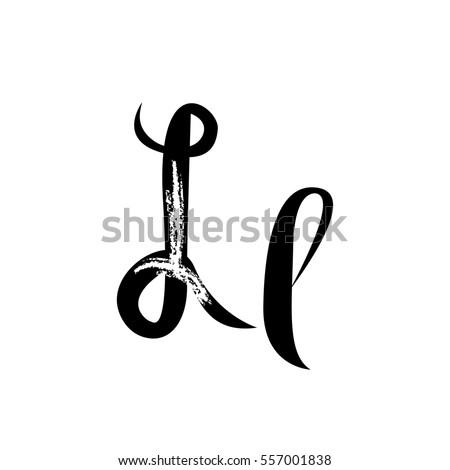 Letter L Alphabet Lettering Calligraphy Manuscript Recipe