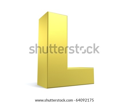 letter L from my golden collection - stock photo