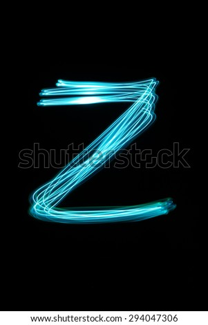 Letter,light - stock photo